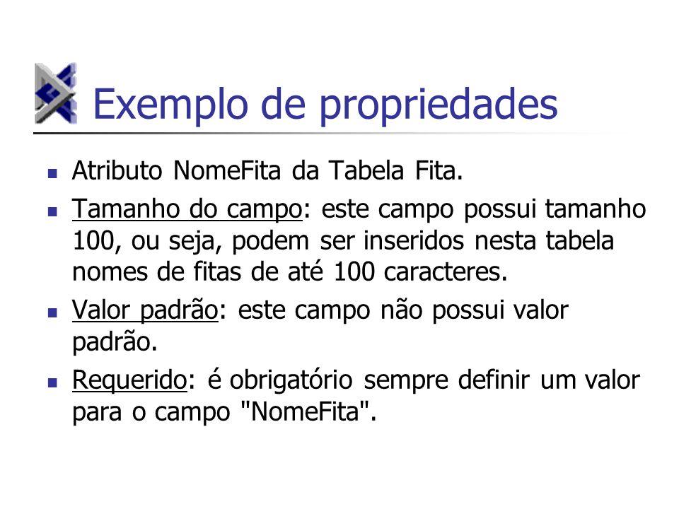 Exemplo de propriedades