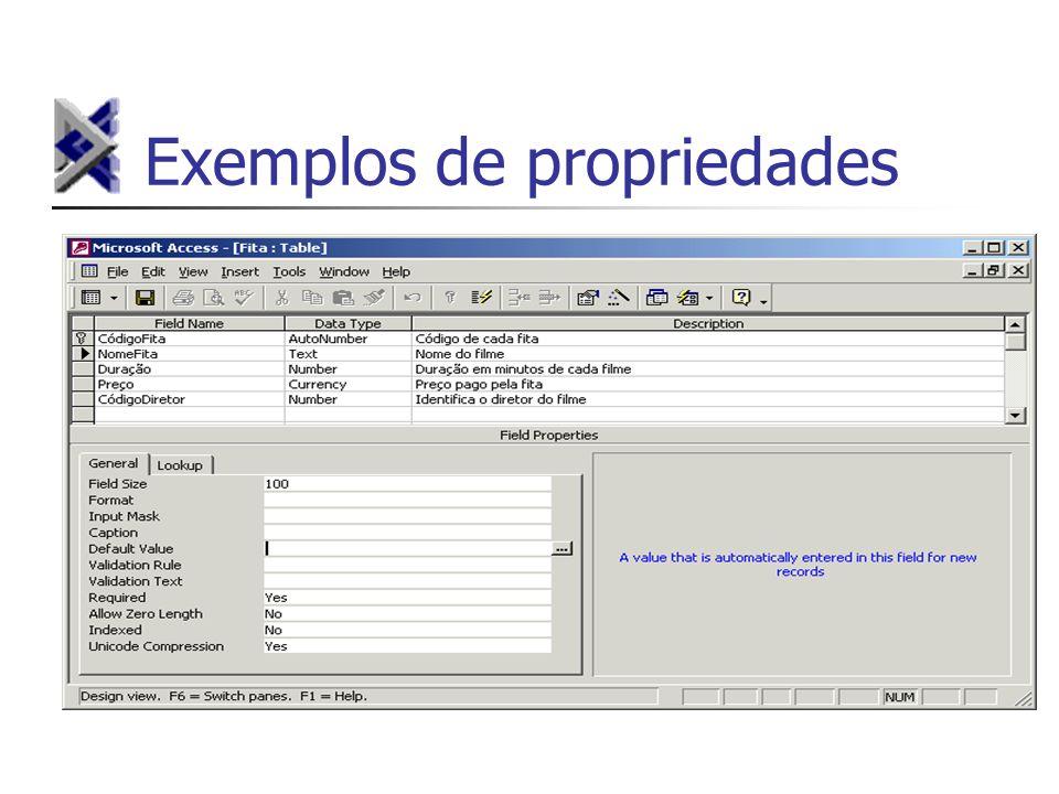 Exemplos de propriedades
