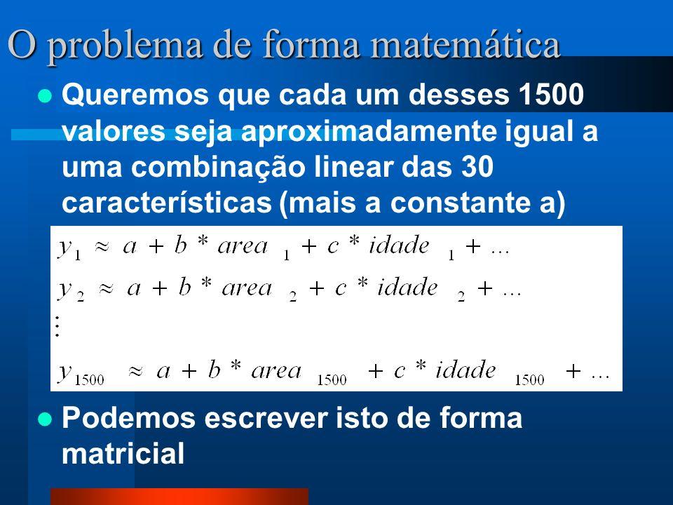 O problema de forma matemática