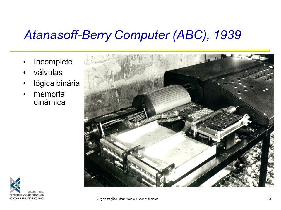 Atanasoff-Berry Computer (ABC), 1939
