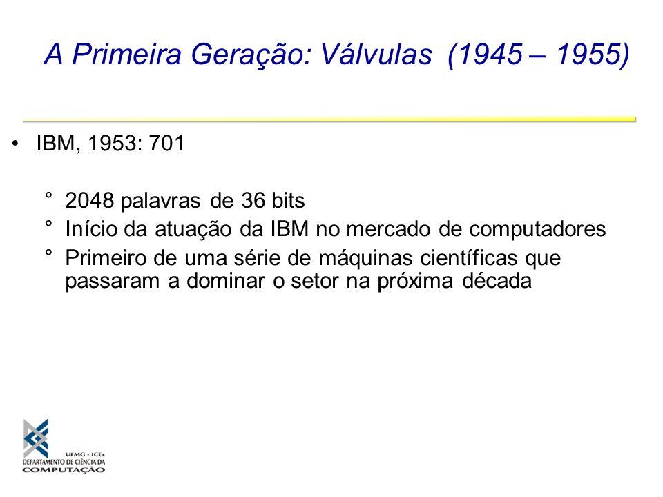 A Primeira Geração: Válvulas (1945 – 1955)