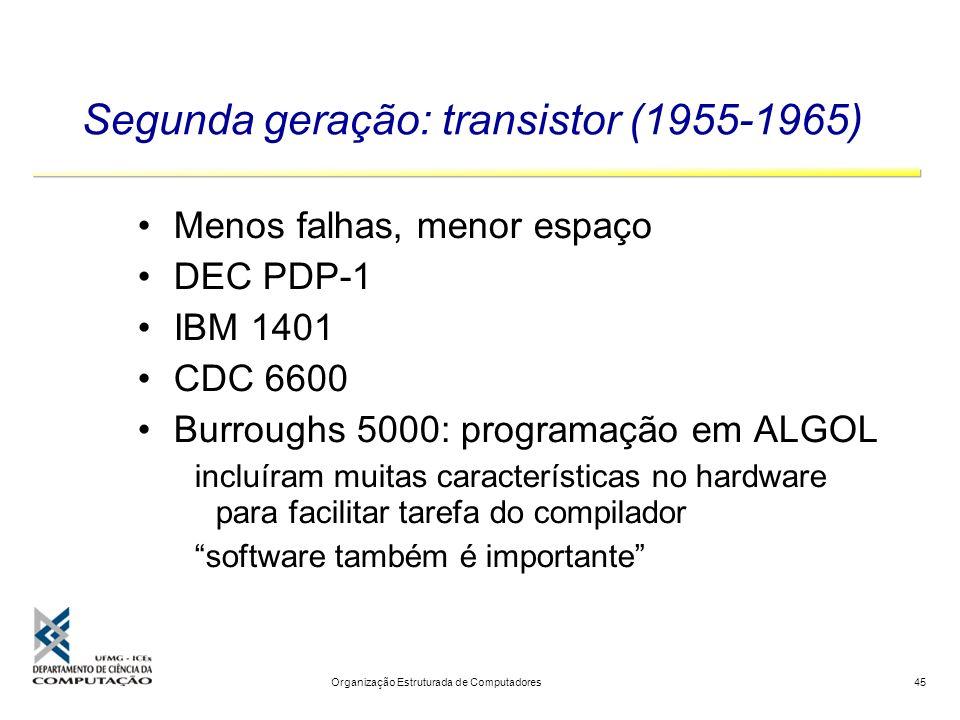 Segunda geração: transistor (1955-1965)