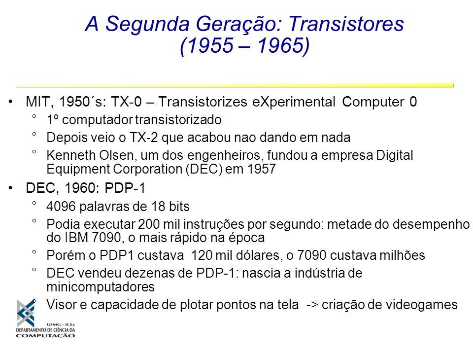 A Segunda Geração: Transistores (1955 – 1965)