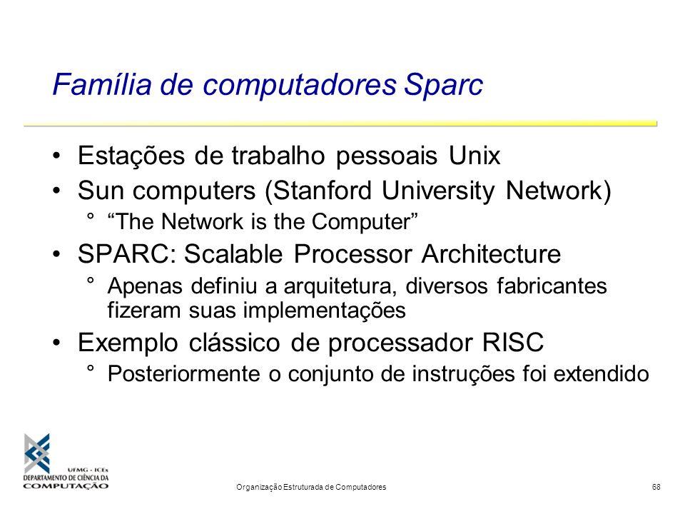 Família de computadores Sparc