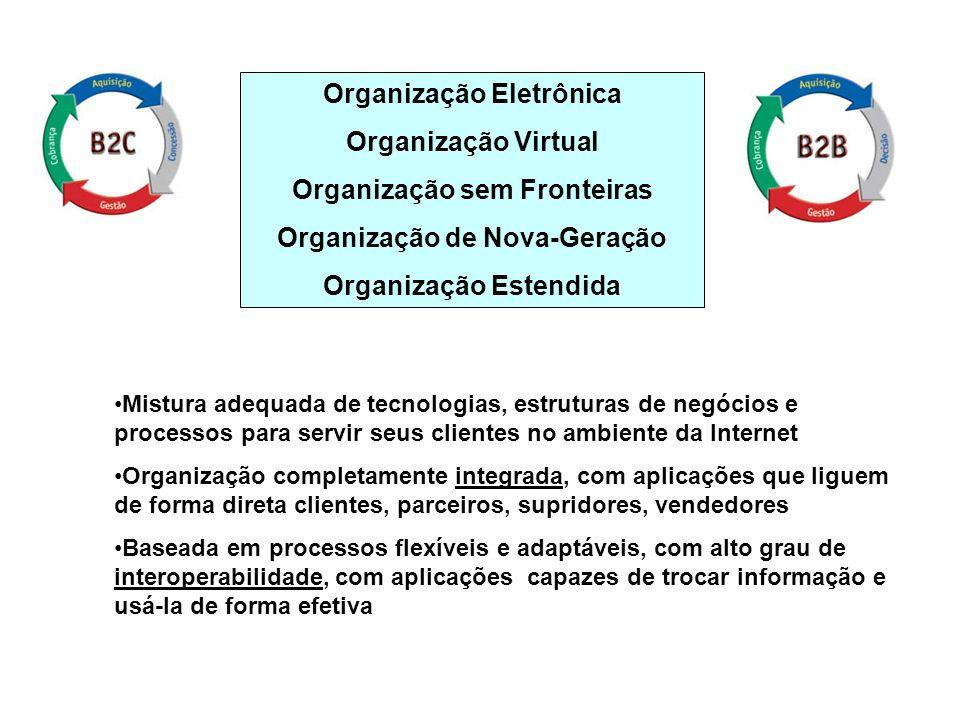 Organização Eletrônica Organização Virtual Organização sem Fronteiras