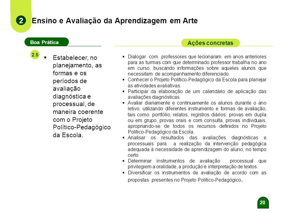 Ensino e Avaliação da Aprendizagem em Arte
