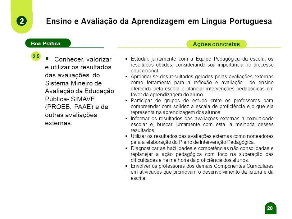 Ensino e Avaliação da Aprendizagem em Língua Portuguesa