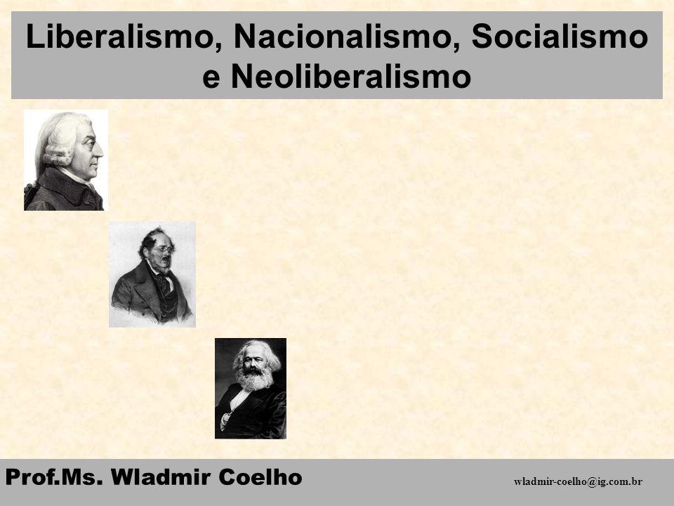 Liberalismo, Nacionalismo, Socialismo e Neoliberalismo