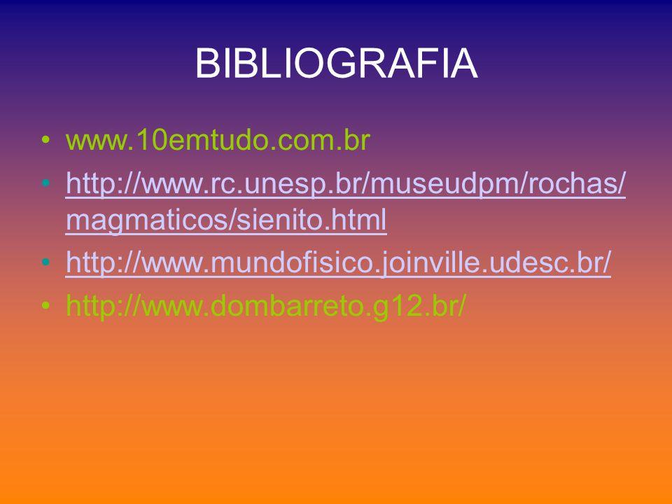 BIBLIOGRAFIA www.10emtudo.com.br