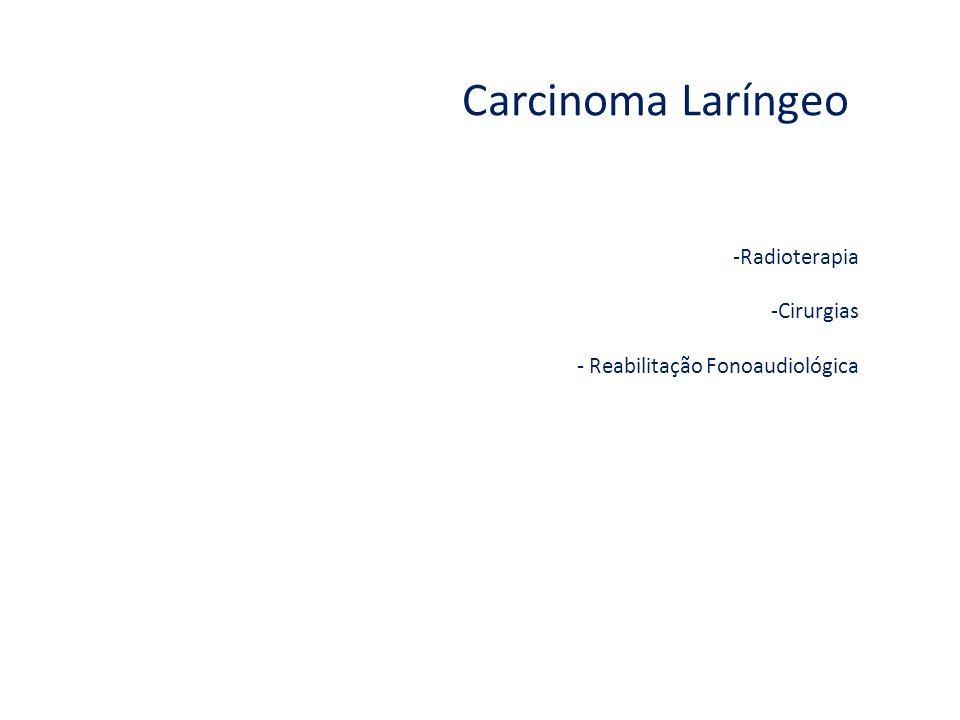 Carcinoma Laríngeo Radioterapia Cirurgias