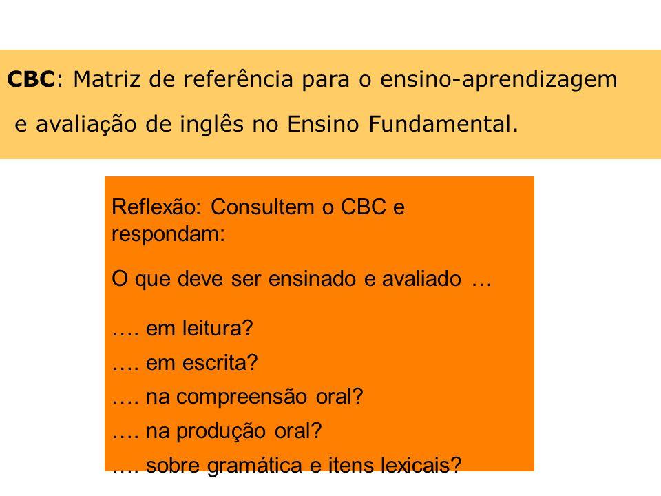 CBC: Matriz de referência para o ensino-aprendizagem