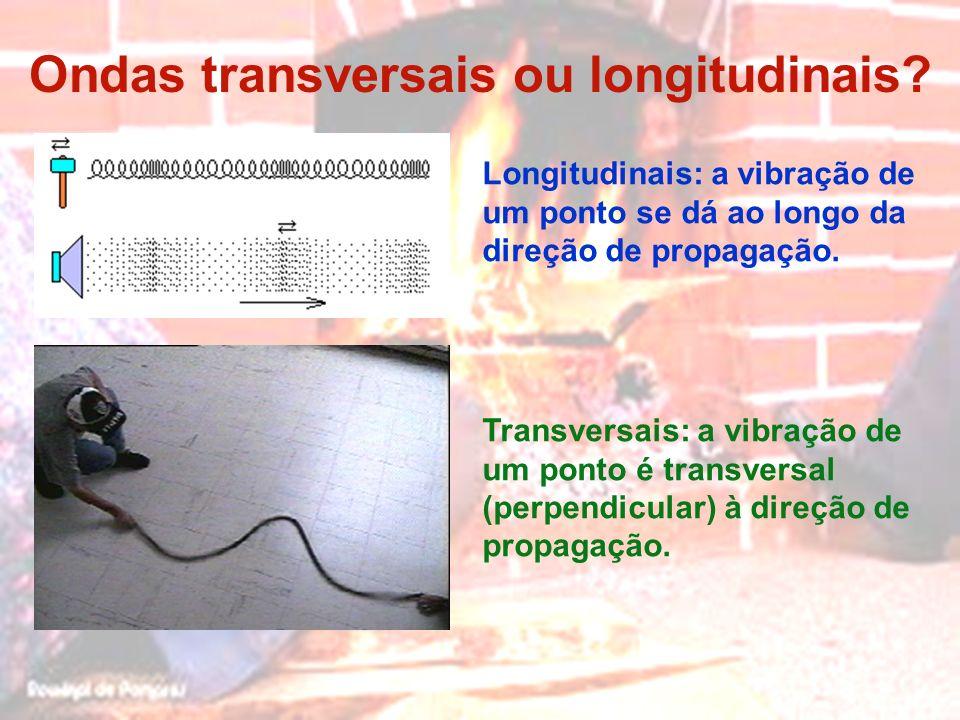 Ondas transversais ou longitudinais