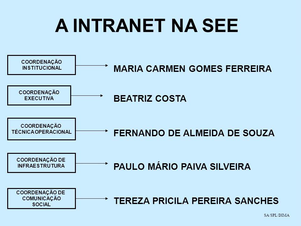A INTRANET NA SEE MARIA CARMEN GOMES FERREIRA BEATRIZ COSTA