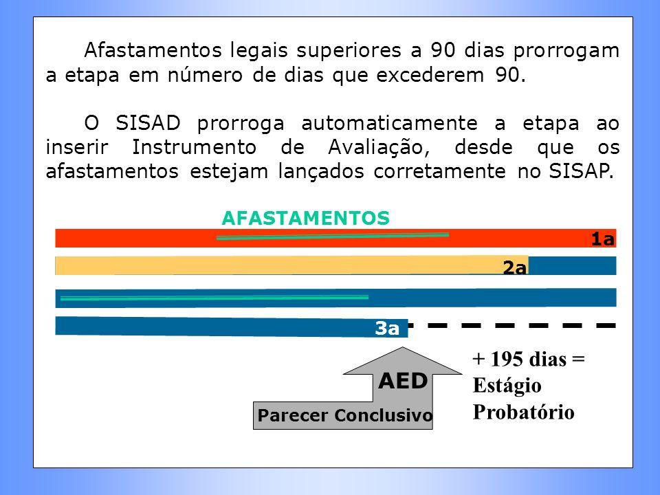 + 195 dias = Estágio Probatório AED