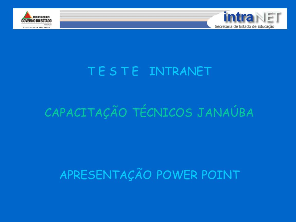 CAPACITAÇÃO TÉCNICOS JANAÚBA