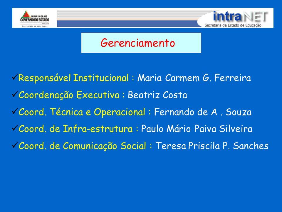 Gerenciamento Responsável Institucional : Maria Carmem G. Ferreira