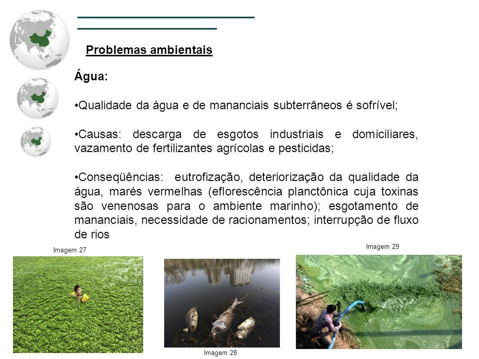 Qualidade da água e de mananciais subterrâneos é sofrível;