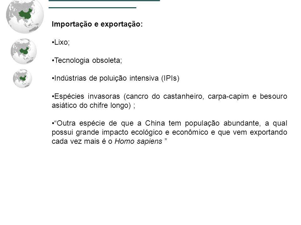 Importação e exportação: