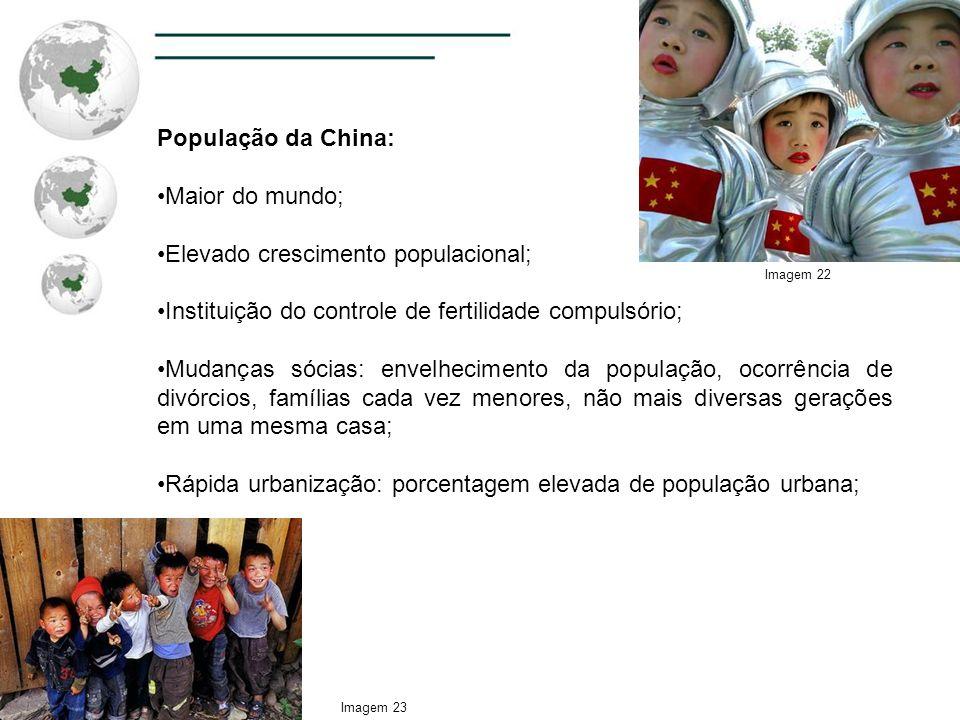 Elevado crescimento populacional;