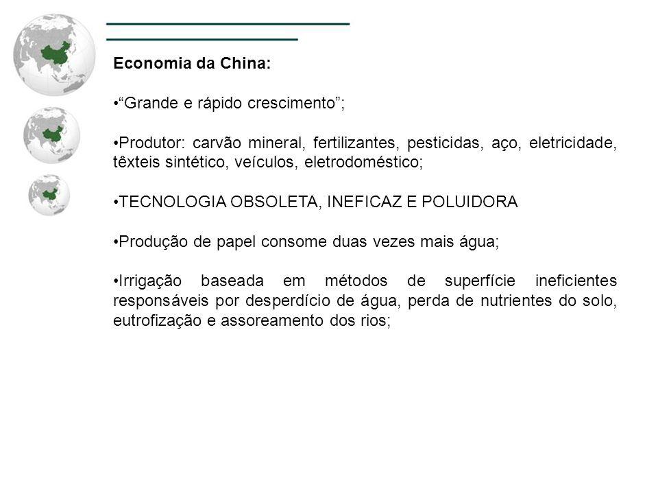 Economia da China: Grande e rápido crescimento ;