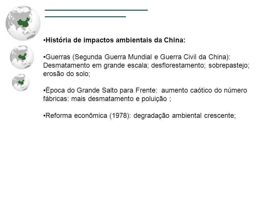 História de impactos ambientais da China: