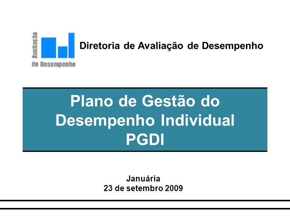 Plano de Gestão do Desempenho Individual PGDI