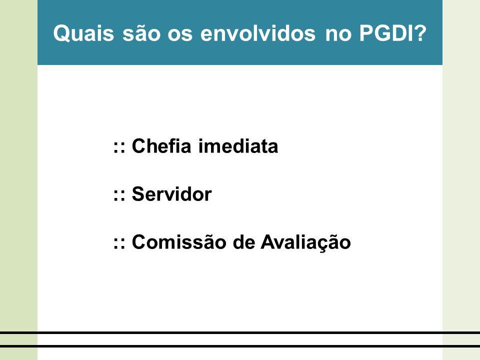 Quais são os envolvidos no PGDI