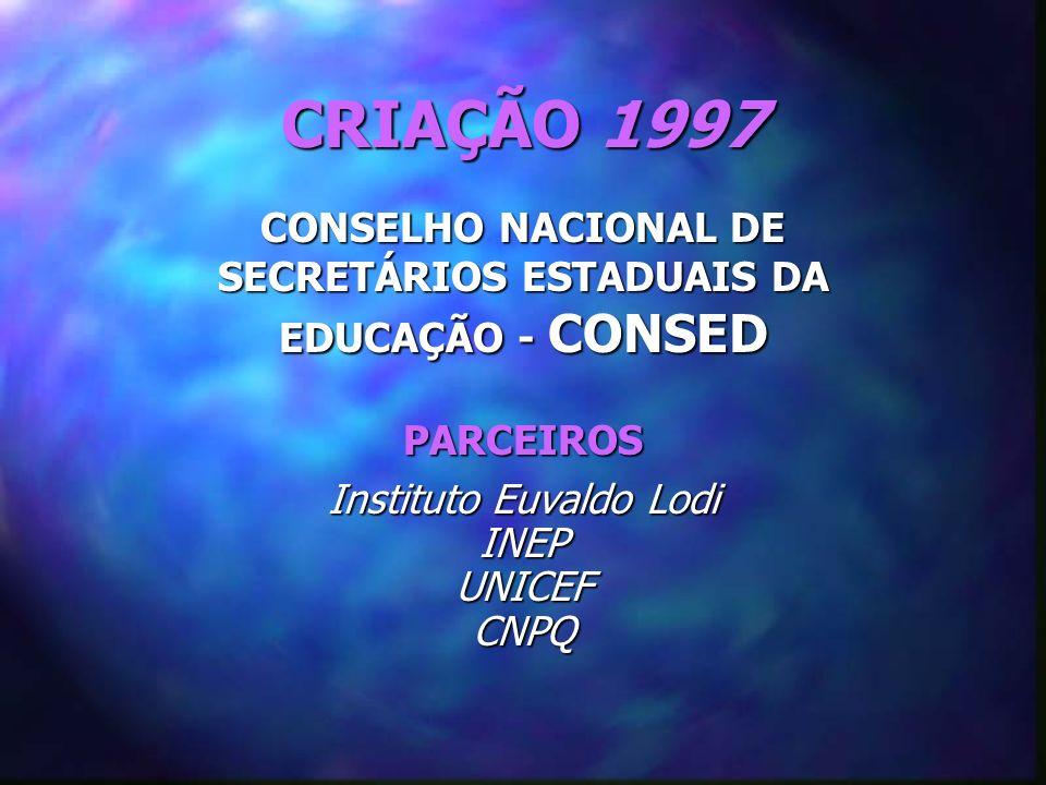 CONSELHO NACIONAL DE SECRETÁRIOS ESTADUAIS DA EDUCAÇÃO - CONSED