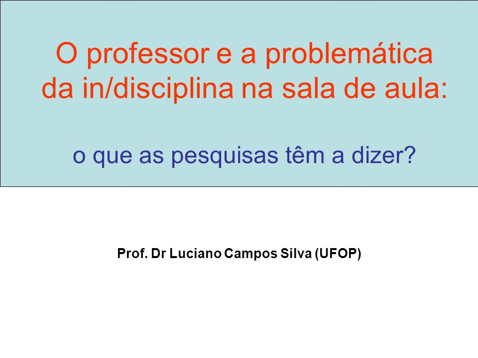 Prof. Dr Luciano Campos Silva (UFOP)