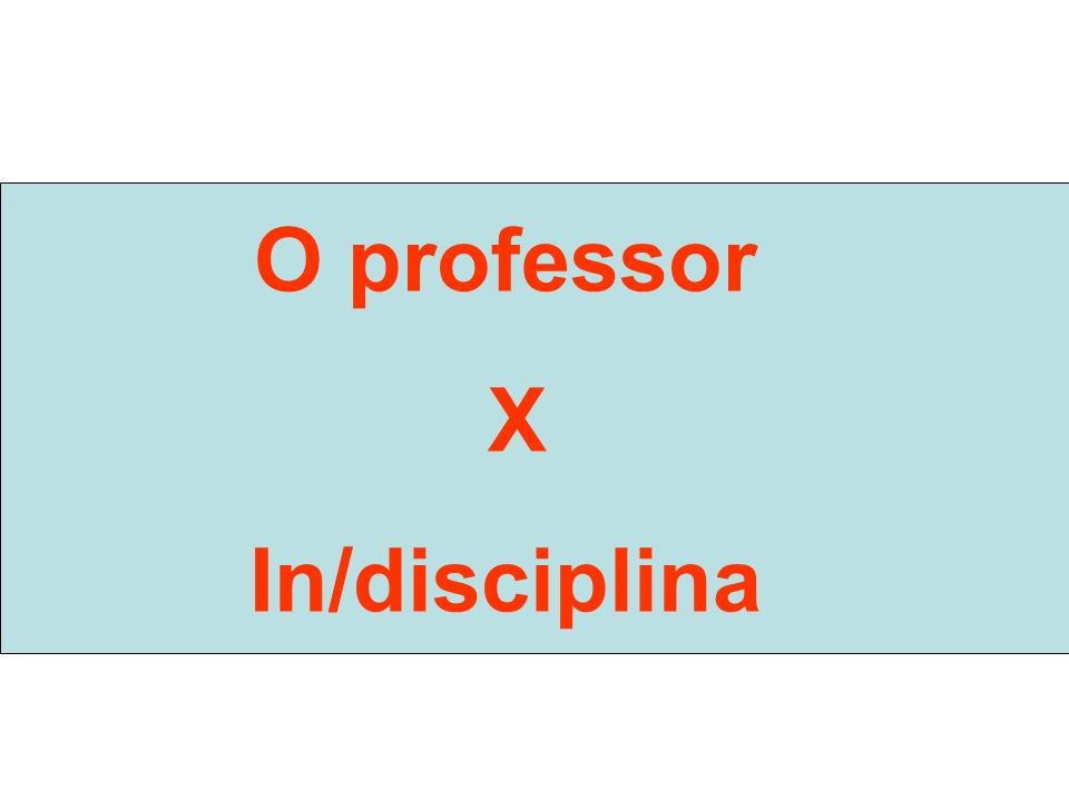 O professor X In/disciplina