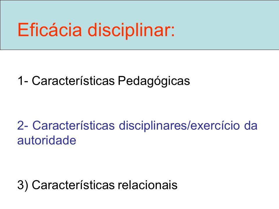 Eficácia disciplinar: