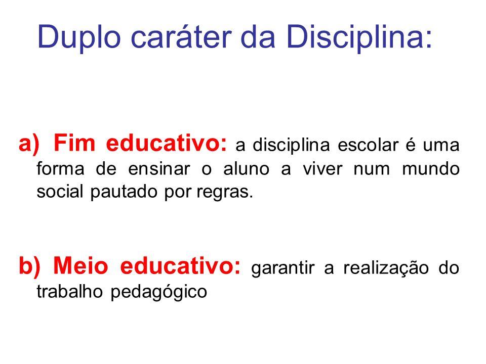 Duplo caráter da Disciplina: