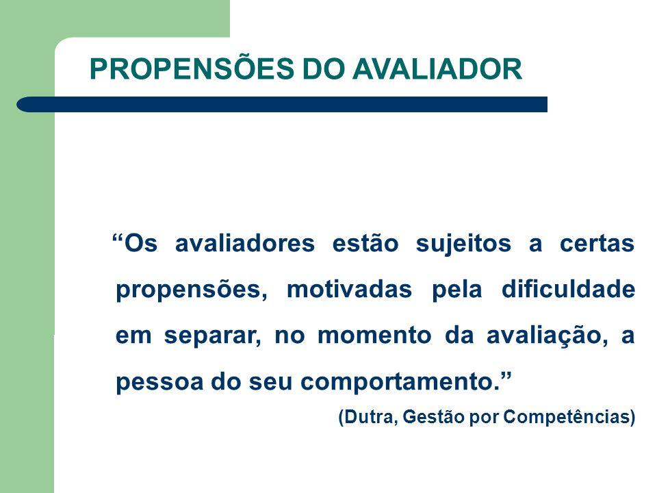 PROPENSÕES DO AVALIADOR