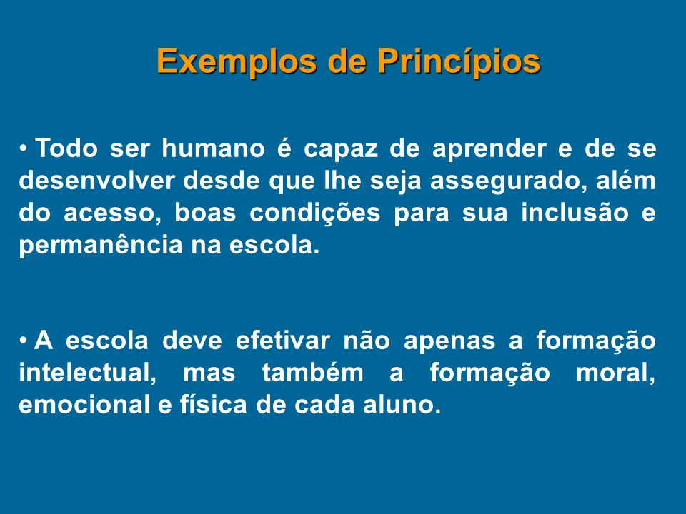 Exemplos de Princípios