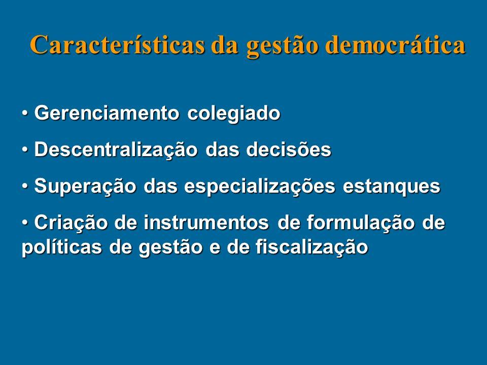 Características da gestão democrática