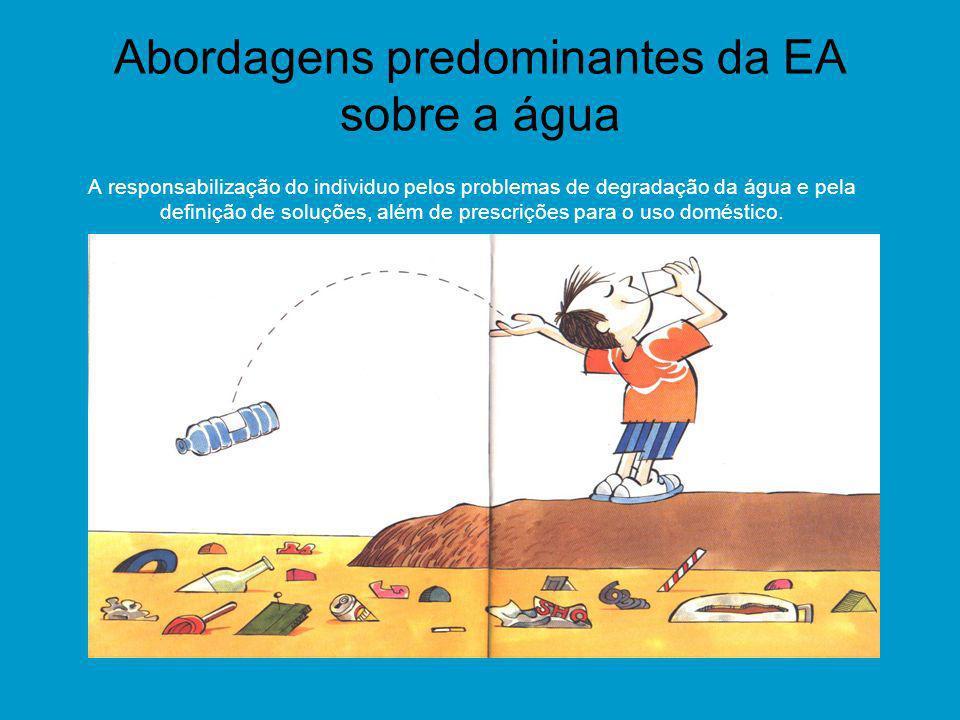 Abordagens predominantes da EA sobre a água