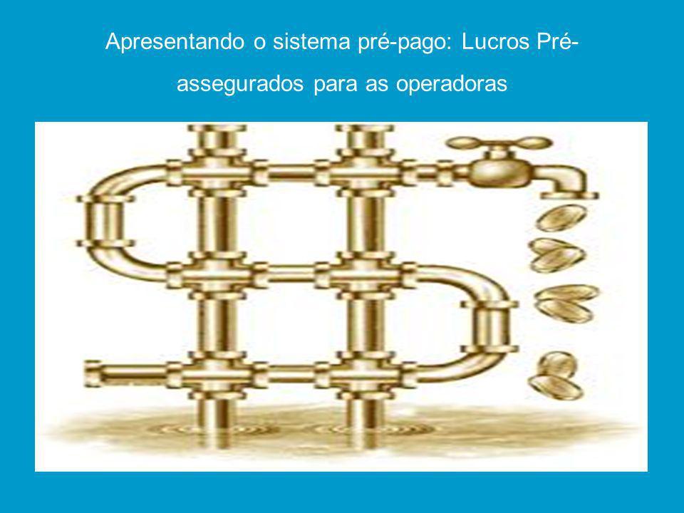 Apresentando o sistema pré-pago: Lucros Pré-assegurados para as operadoras