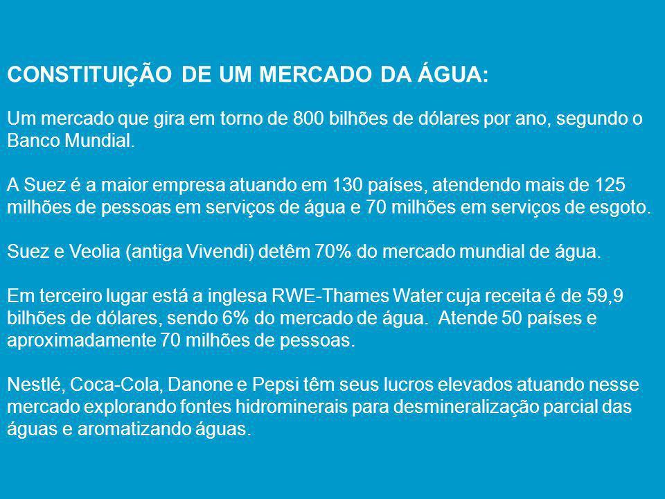CONSTITUIÇÃO DE UM MERCADO DA ÁGUA: