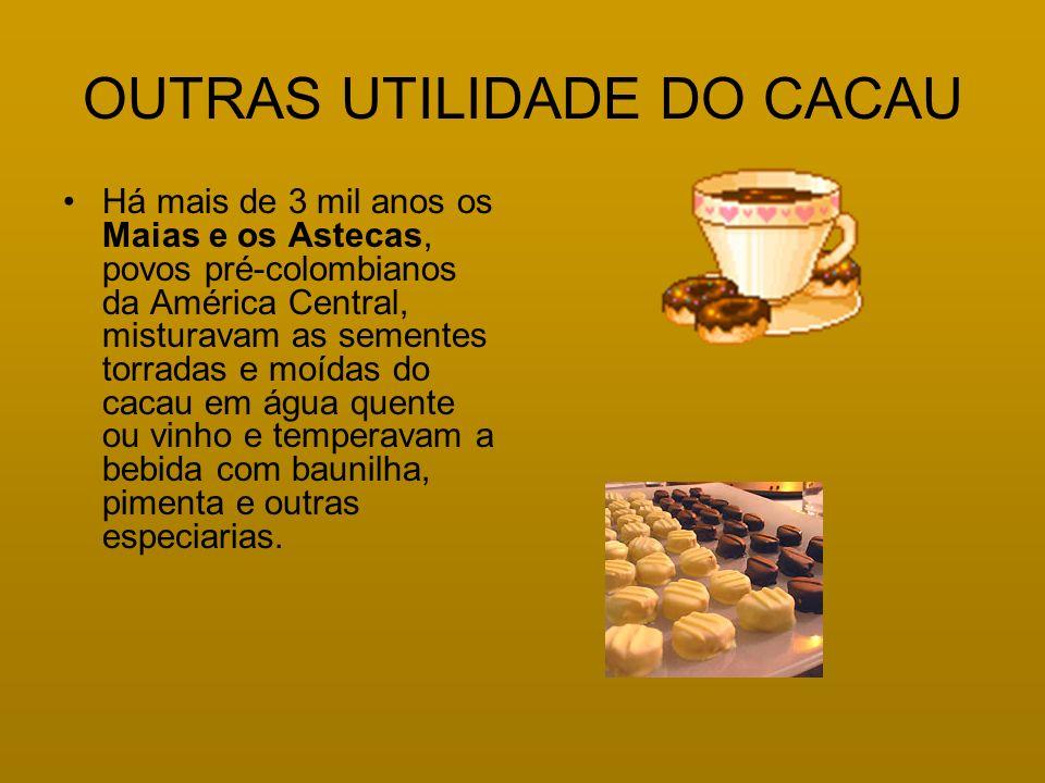 OUTRAS UTILIDADE DO CACAU