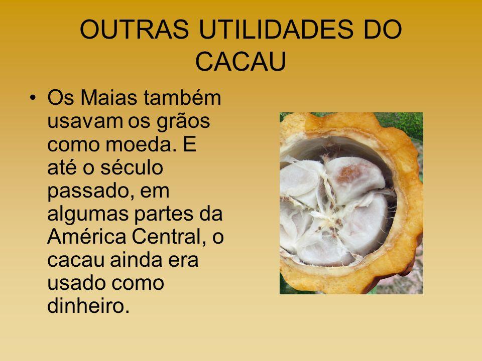 OUTRAS UTILIDADES DO CACAU