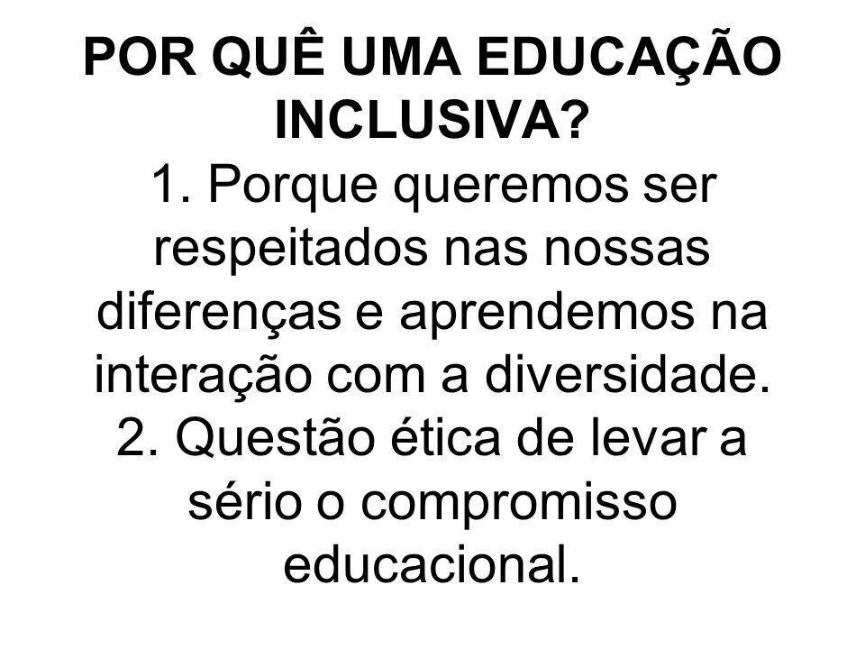 POR QUÊ UMA EDUCAÇÃO INCLUSIVA. 1