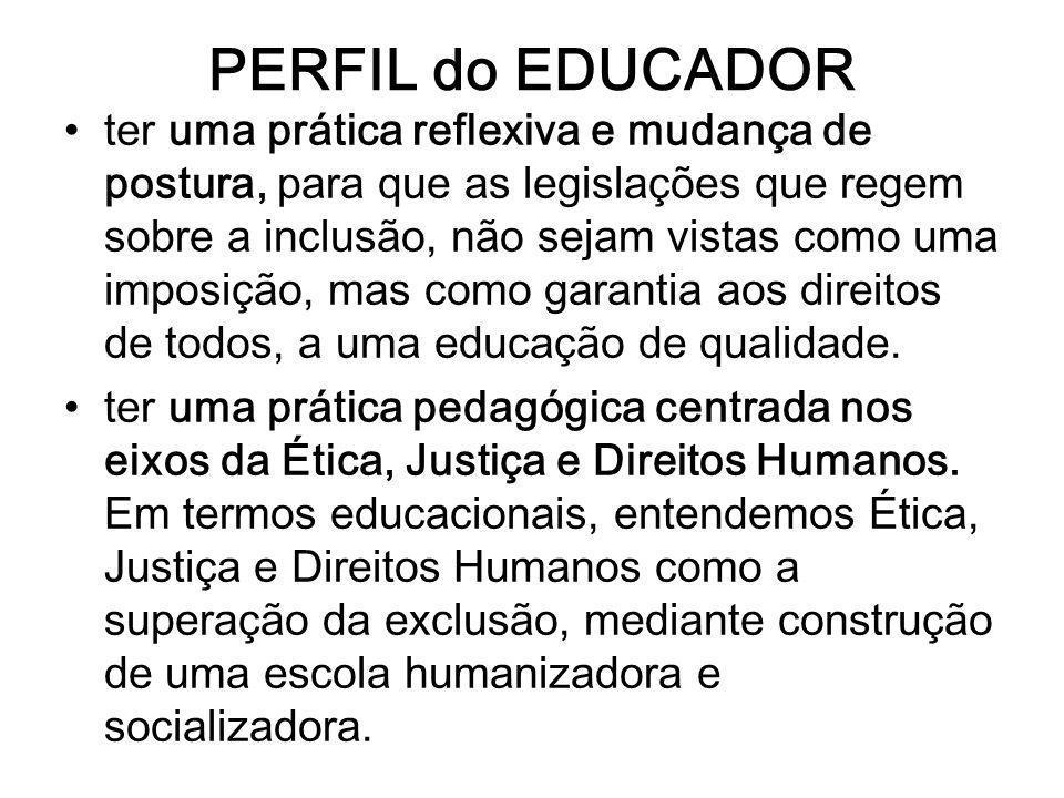 PERFIL do EDUCADOR