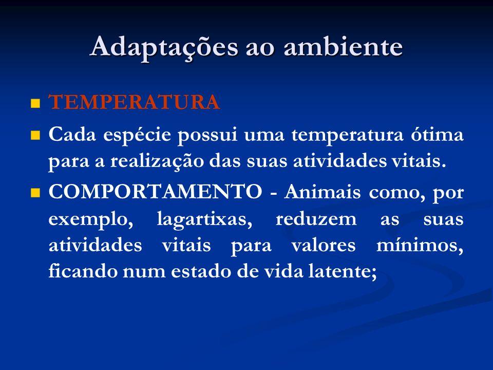 Adaptações ao ambiente