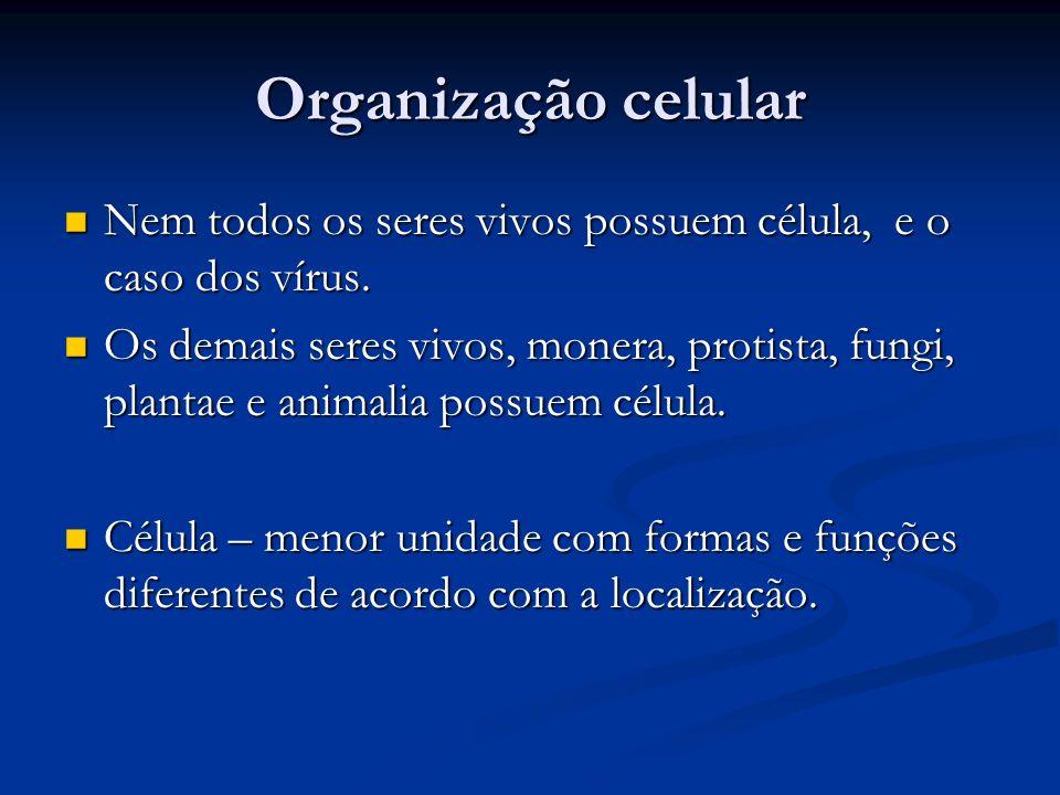 Organização celular Nem todos os seres vivos possuem célula, e o caso dos vírus.