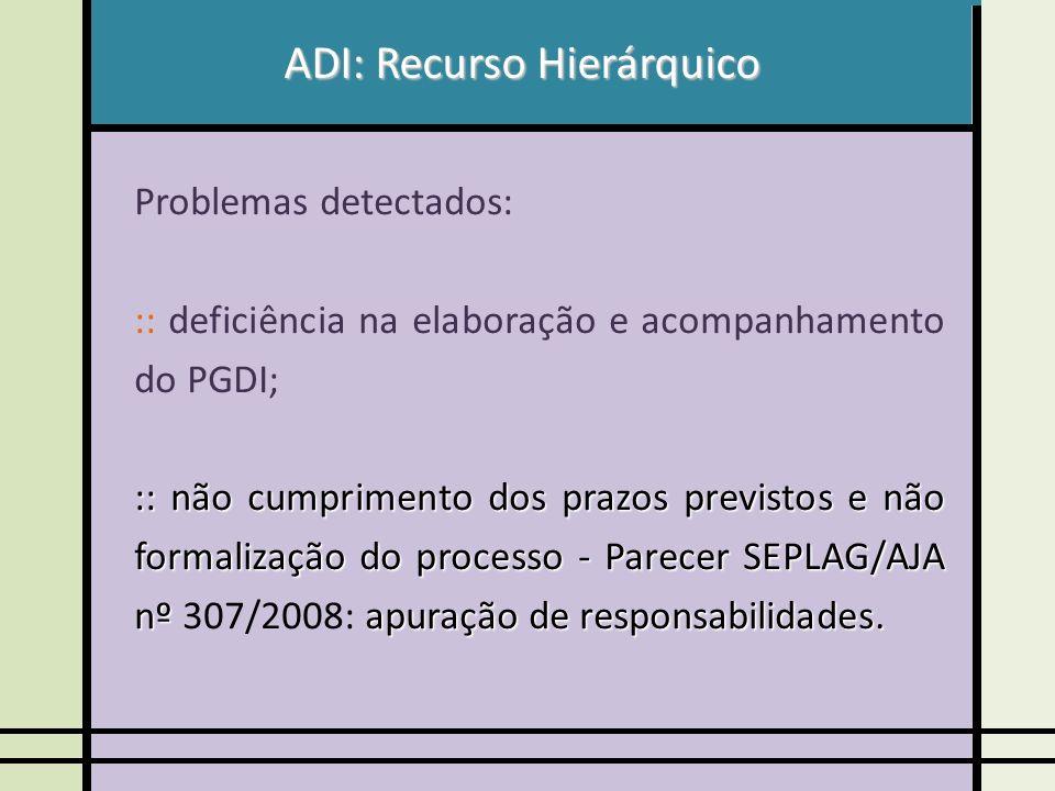 ADI: Recurso Hierárquico