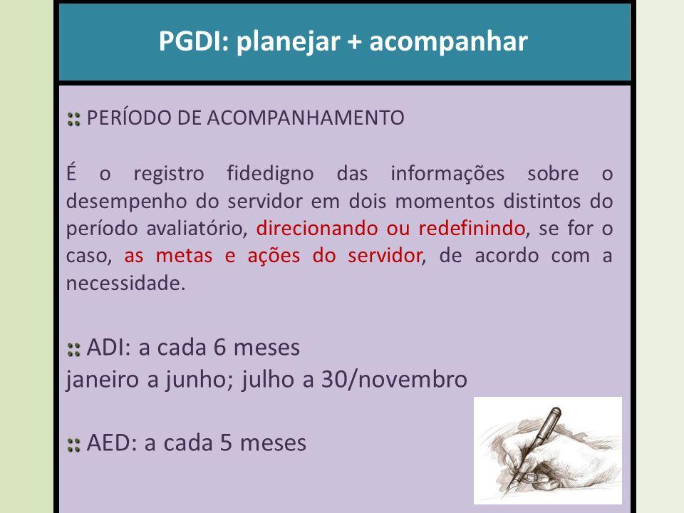 PGDI: planejar + acompanhar