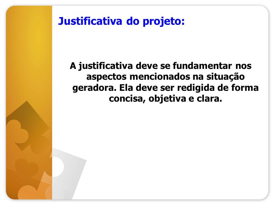 Justificativa do projeto: