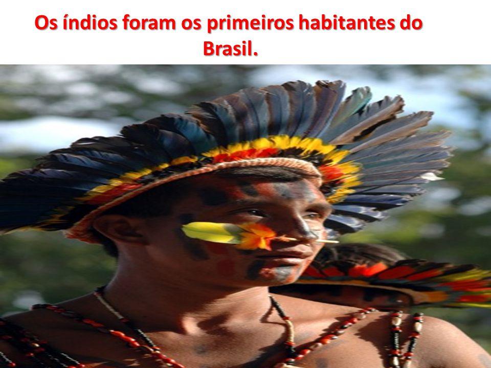 Os índios foram os primeiros habitantes do Brasil.