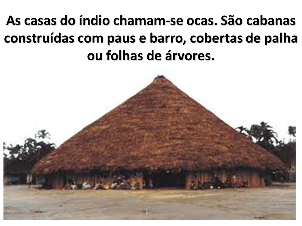 As casas do índio chamam-se ocas