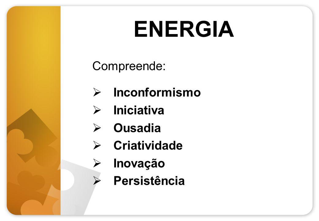 ENERGIA Compreende: Inconformismo Iniciativa Ousadia Criatividade